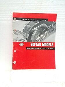 2002 Harley Davidson Softail Models Motorcycle Parts Catalog Ebay