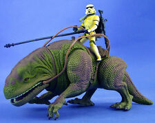 STAR WARS POTF DELUXE LOOSE RARE DEWBACK WITH EXCLUSIVE SANDTROOPER MINT. C-10+