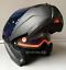 LS2-Flip-Up-Front-Motorcycle-Motorbike-Helmet-MATT-BLACK-Tinted-Blue-Visor miniatura 4
