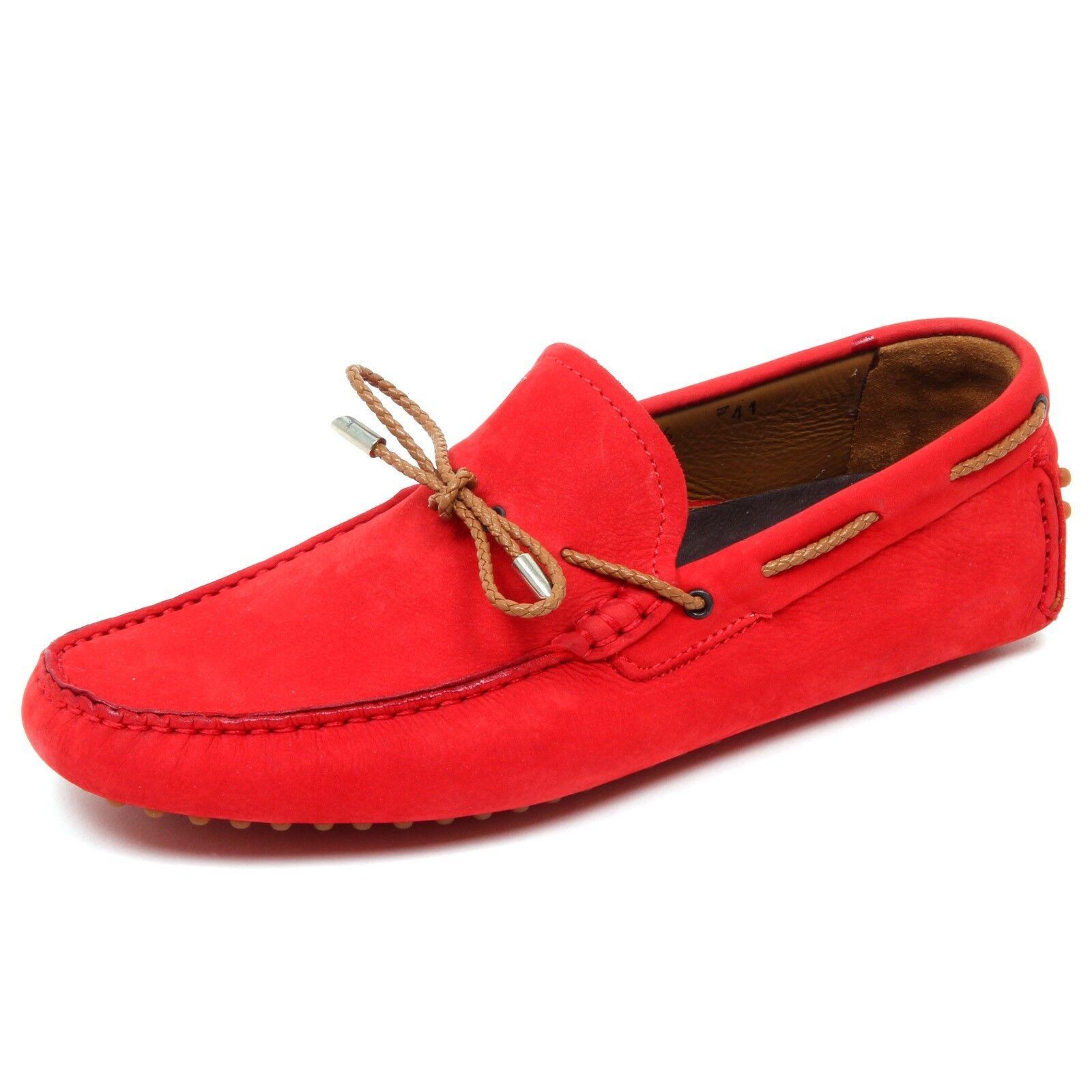 D4400 mocassino uomo CALZOLERIA LA PARIGINA rosso vintage loafer shoe man