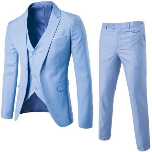 Men/'s Jacket Business Slim Suit Party Vest /& Pants Wedding 2-Piece Blazer