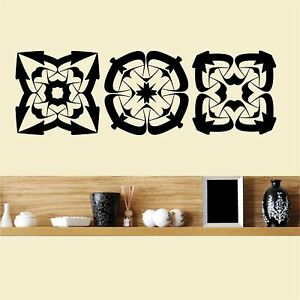 Celtic elements set of 3 wall art sticker decor ebay for Celtic decorations home