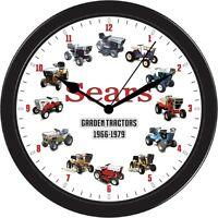 Sears Suburban Craftsman Garden Tractor Mower Wall Clock Black Ss St 10 16 19