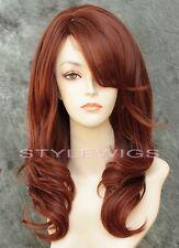 Auburn/Red Mix Long HEAT OK Layered Wavy Synthetic Wig Purity SAPU 33/130