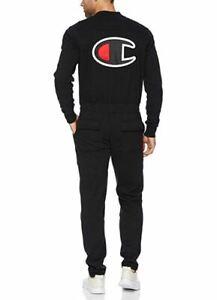 a17a640ed5b3 Champion BIG C LOGO Life Super Fleece 3.0 Coveralls Jumpsuit Black ...
