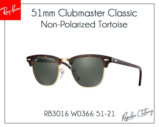 0029d5e9e825e Ray Ban RB 3016 Clubmaster 51mm Tortoise Frame Sunglasses Rb3016 W0366