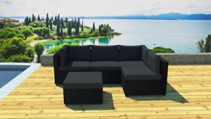 Salon de jardin modulable 5 places en résine | eBay