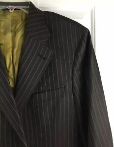 gessato In Made Kuhlman lana Giacca Blazer uomo Sz da uomo marrone Giacca Italy da di 44r 1qnqw6I7O