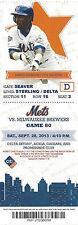 Lance Johnson 1996 All-Star Mets vs. Brewers Citi Stub Sept 28 2013 Game 80