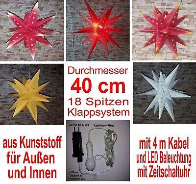 Ø1 Meter Adventsstern Außenstern inkl.Kabel /& LED  DesignMS by MS-Royal Chemnitz