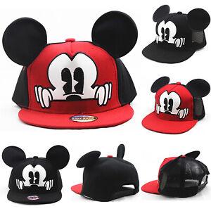 04bc9e07d25a1 2018 Hot Mickey Ear Hat Children Snapback Mesh Caps Baseball Funny ...
