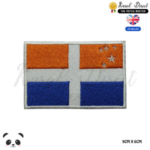 ISLES-OF-SCILLY-England-County-Flag-Embroidered-Iron-On-Sew-On-Patch-Badge