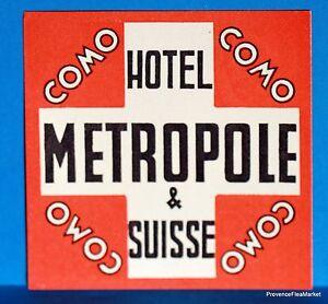 Sport en vakantie Hotel Chateau Gutsch  LUZERN  SUISSE  Original  luggage label  BD88 Reisaccessoires, bagage