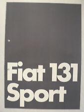 Prospetto FIAT 131 Sport-dei due litri nel formato Sport, 11.1978, 12 pagine