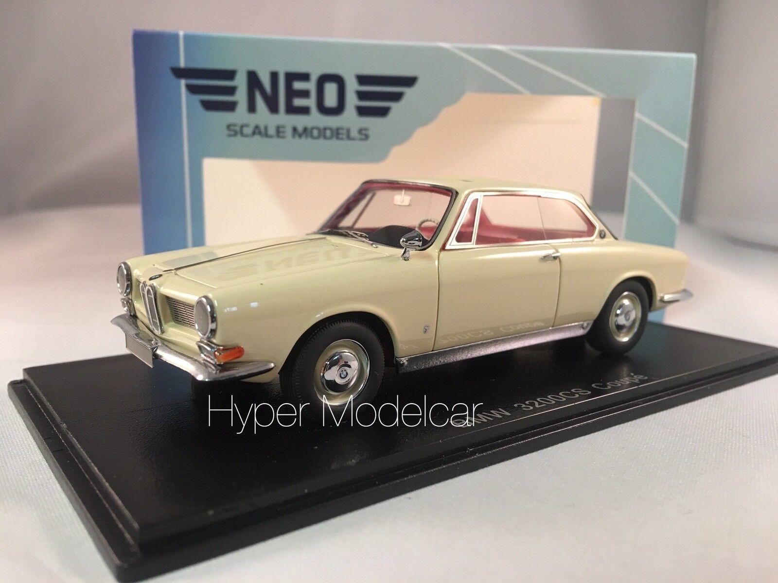 NEO SCALE MODEL  Bmw 3200 CS Bertone 1961 Cream Art. NEO44287