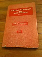 1960 Complex Variables And Applications 2nd Edition RUEL CHURCHILL Engineer Book