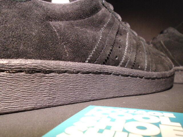 Adidas superstar noch unveröffentlichte stichprobe auftrieb. schwarzen wildleder karte f37750 auftrieb. stichprobe df5418