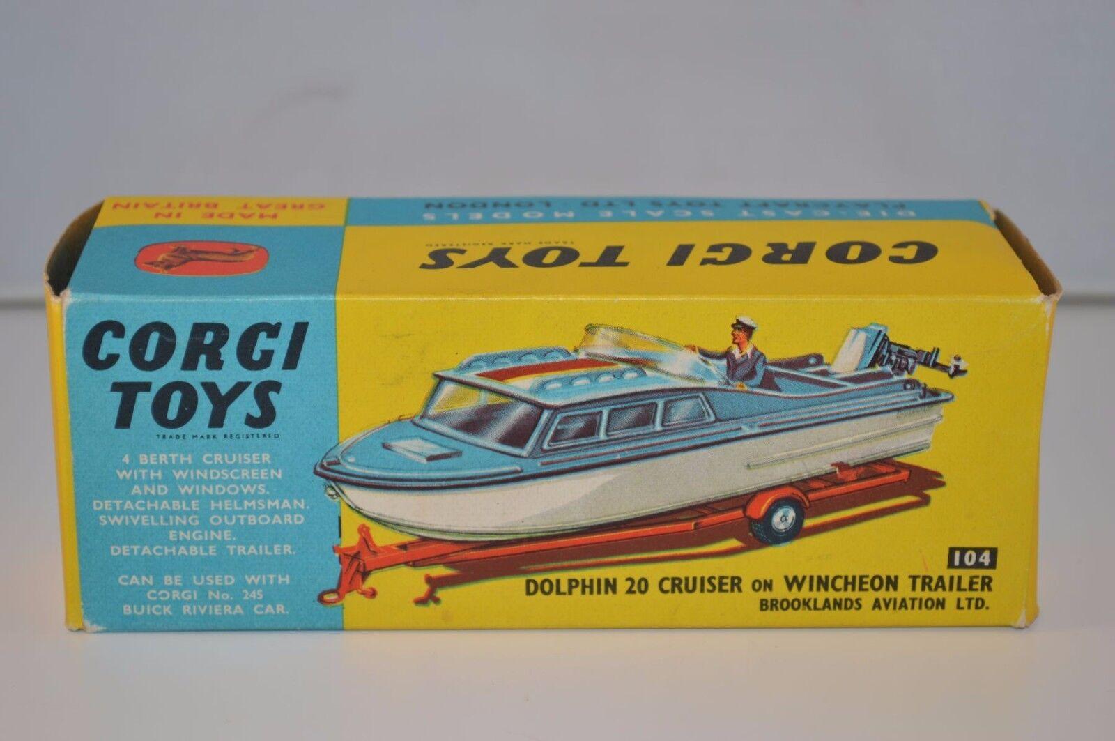 marca Corgi giocattoli 104 Dolphin 20 Cruiser near near near mint empty original scatola  gli ultimi modelli