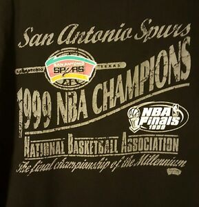 Champs Antonio Nba Size San 1999 Spurs negro Xl usada camiseta 6w4Yqw