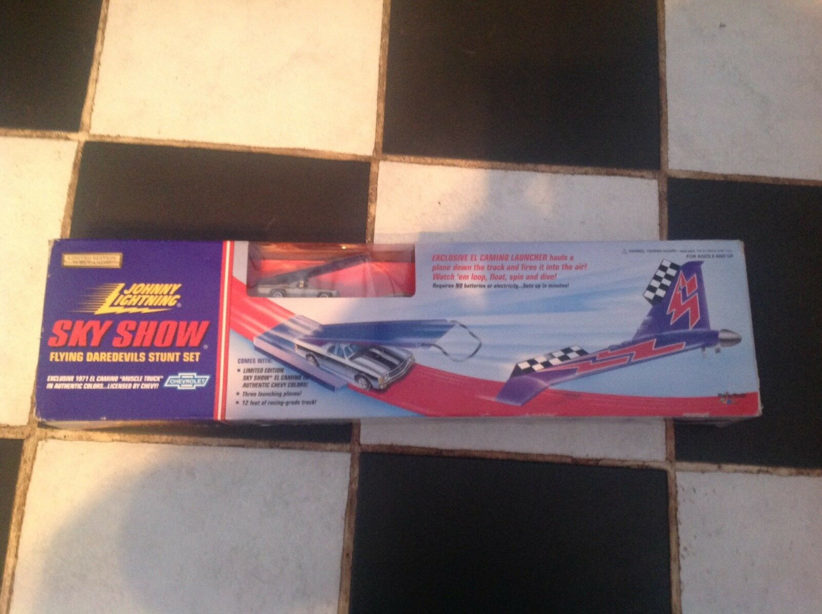 Vintage Johnny Lightning SKY SHOW STUNT SET LTD ED 1995 MIB El Camino Muscle Car
