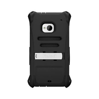 for HTC ONE M7 TRIDENT OEM CASE BUILT-IN SCREEN PROTECTOR CLIP AMS-HTC-M7-BK