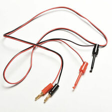 1 Pair Banana Plug To Test Hook Clip Probe Lead Cable For Multimeter Kt