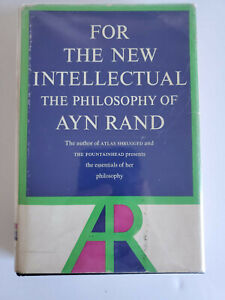 For the New Intellectual Ayn Rand 1961 HBDJ 1st Edition 1st Print RARE