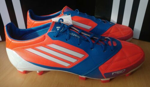 Adidas f50 Adizero xtrx sg lea Orange Bleu Cuir Chaussures de foot ...