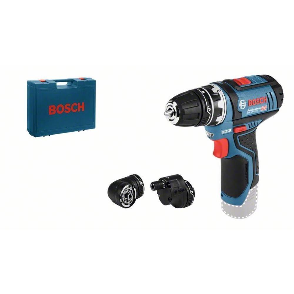 Bosch Akku-Bohrschrauber GSR 12V-15 FC + Bohrfutter + Koffer   ohne Akku ohne La