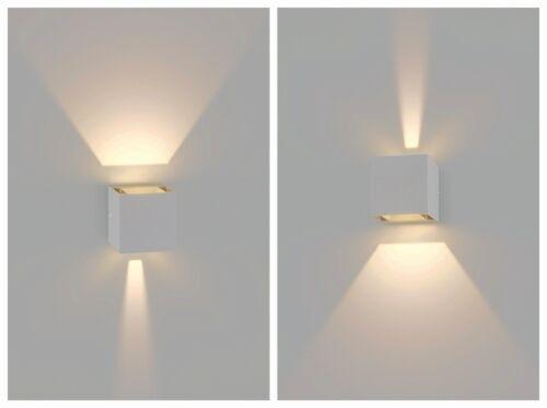 Applique Würfel Außen IP65 Beleuchtung Fassaden Wände Doppel Strahl Licht