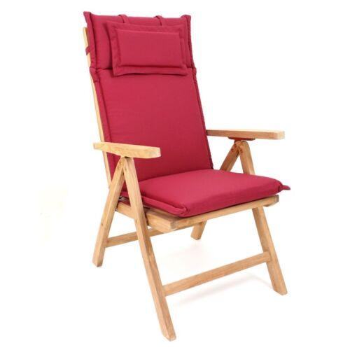 Jardín tirada tirada para respaldo alto silla de jardín 119 x 46 cm silla almohada Dick!
