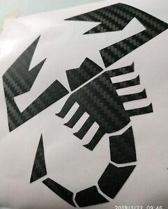 Carbonio-3d-Adesivo-Scorpione-ABARTH-tuning-personalizzato-pellicola-sticker