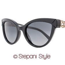 Bulgari Cateye Sunglasses BV8156B 501-T3 Shiny Black/Gold Polarized 8156