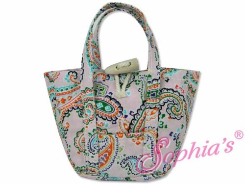 Pink Paisley Print Tote Bag for 18 Dolls including American Girl Dolls