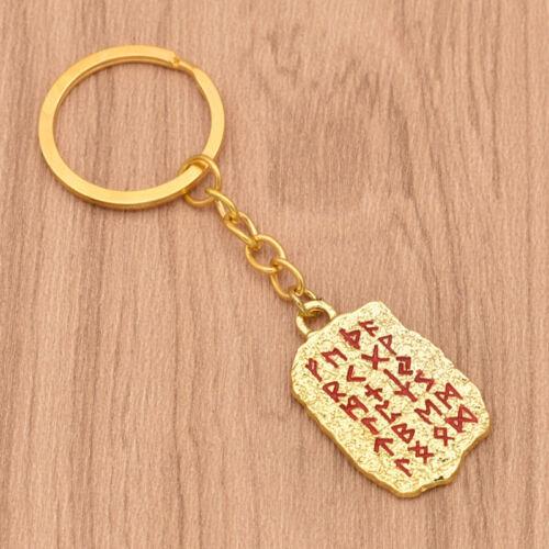 Viking Wolf Rune Anhänger Schlüsselanhänger Schlüssel Ring Wikinger Key Chain