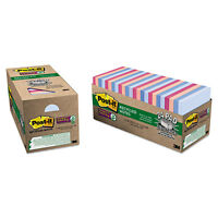 Post-it Notes Super Sticky Recycled Notes In Bali Colors 3 X 3 70-sheet 24/pack on sale