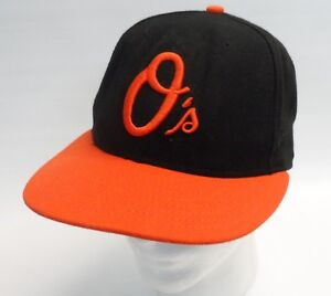 finest selection c4de6 333fd Image is loading Baltimore-Orioles-Embroidered-On-Field-Cap-MLB-New-