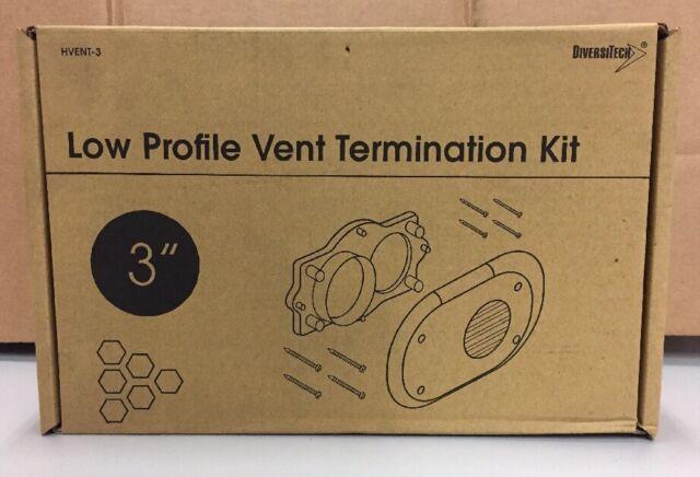 Diversitech HVENT-3 Horizontal Termination Kit 3 inch low profile SHIPS FREE!