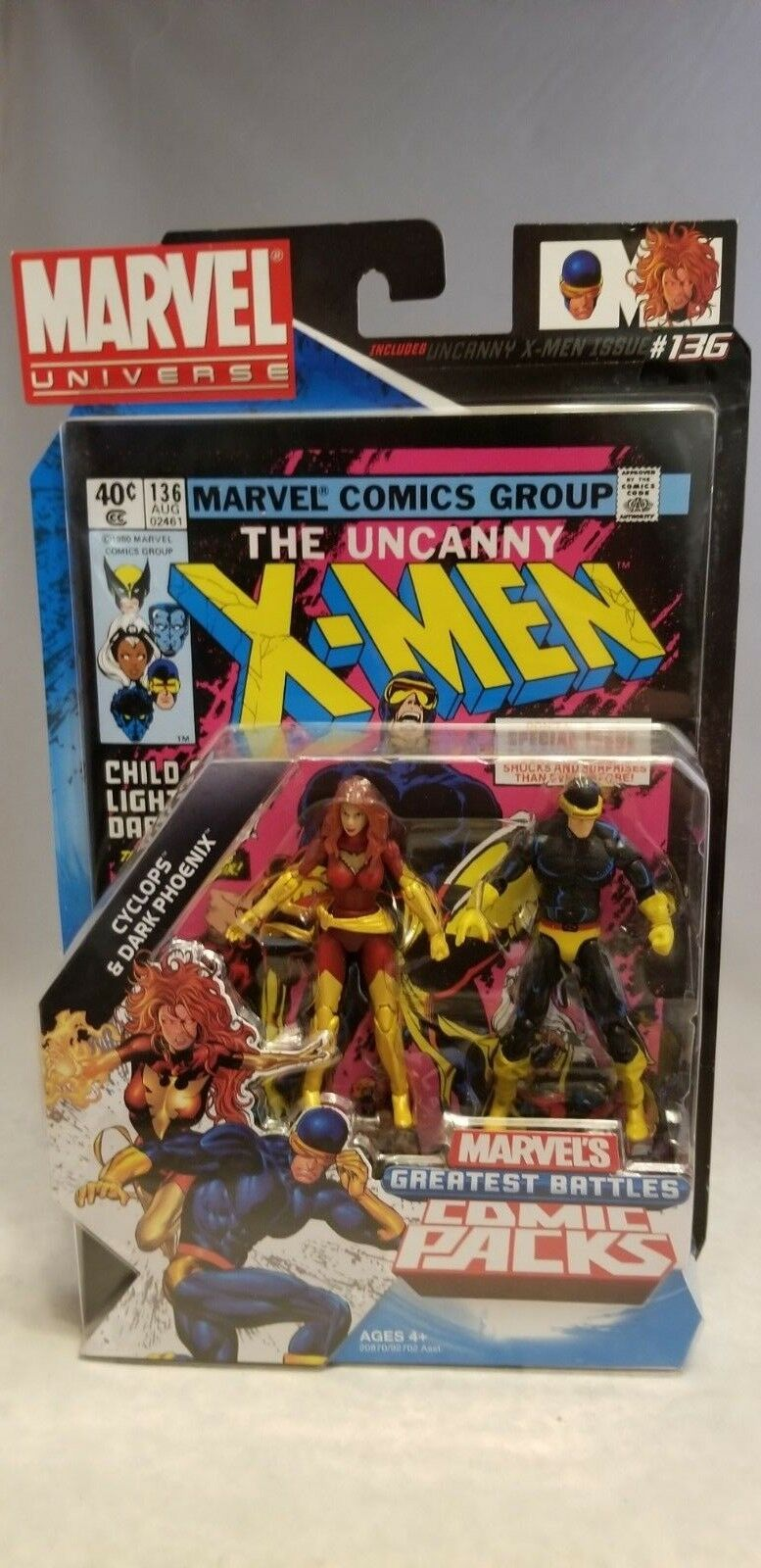 MARVEL UNIVERSE GREATEST BATTLES  CYCLOPS & DARK PHOENIX SET
