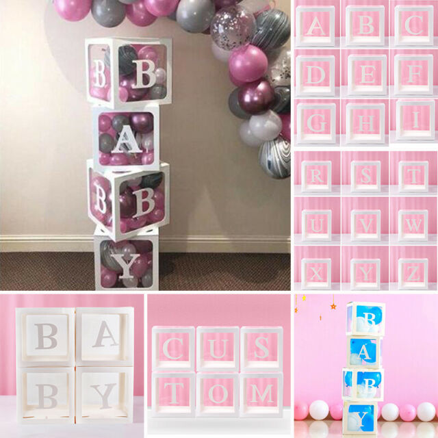 Letter LOVECube Transparent Gift Boxes Kid Birthday Baby Shower Party Decoration