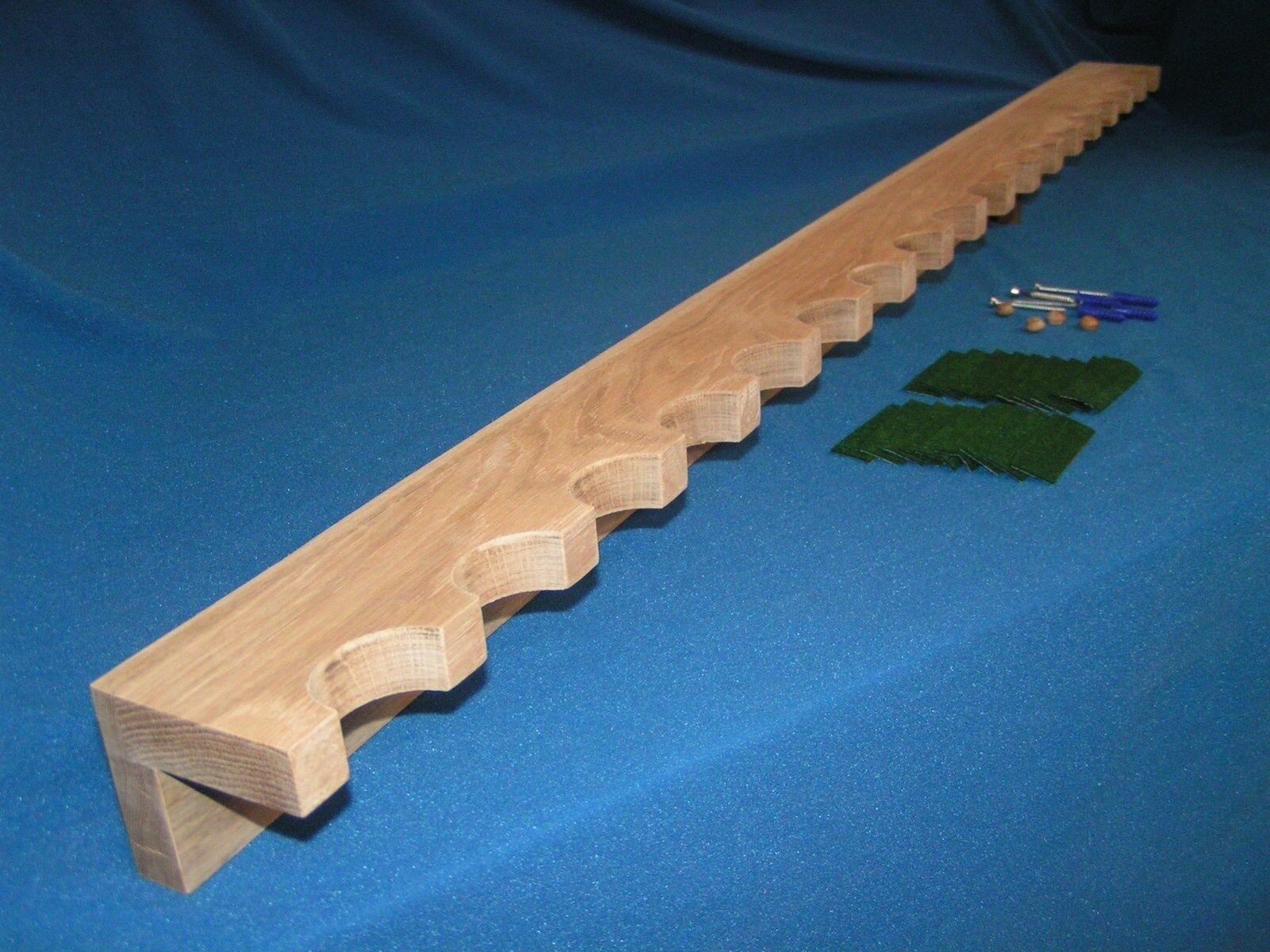 20 pistola Pistola de Armario Rack-Construcción De Roble Sólido