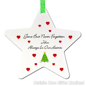 Personalised-In-Memory-Memorial-Christmas-Tree-Ornament-Decoration-Love-Star