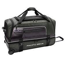 "Pacific Gear Drop Zone Green 30"" Large Drop Bottom Wheeled Duffel Bag Roller"
