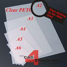 1.5mm Sottile Trasparente PETG casa delle bambole vetri in plastica Art Craft Hobby Dimensioni foglio a2
