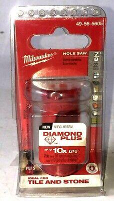 Diamond Plus Hole Saw Milwaukee 49-56-5605 7//8 in