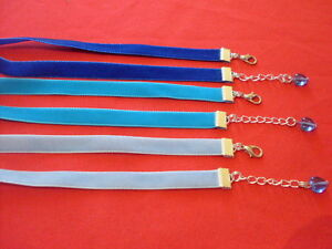Adjustable-10m-velvet-chokers-colours-gothic-pagan-wican-made-to-size-blue-heart