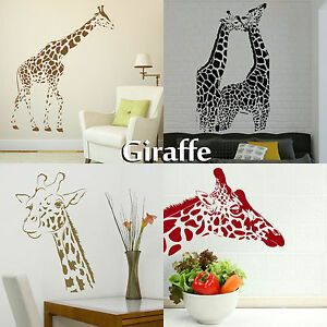 giraffe wall stickers transfer graphic decal decor stencils large