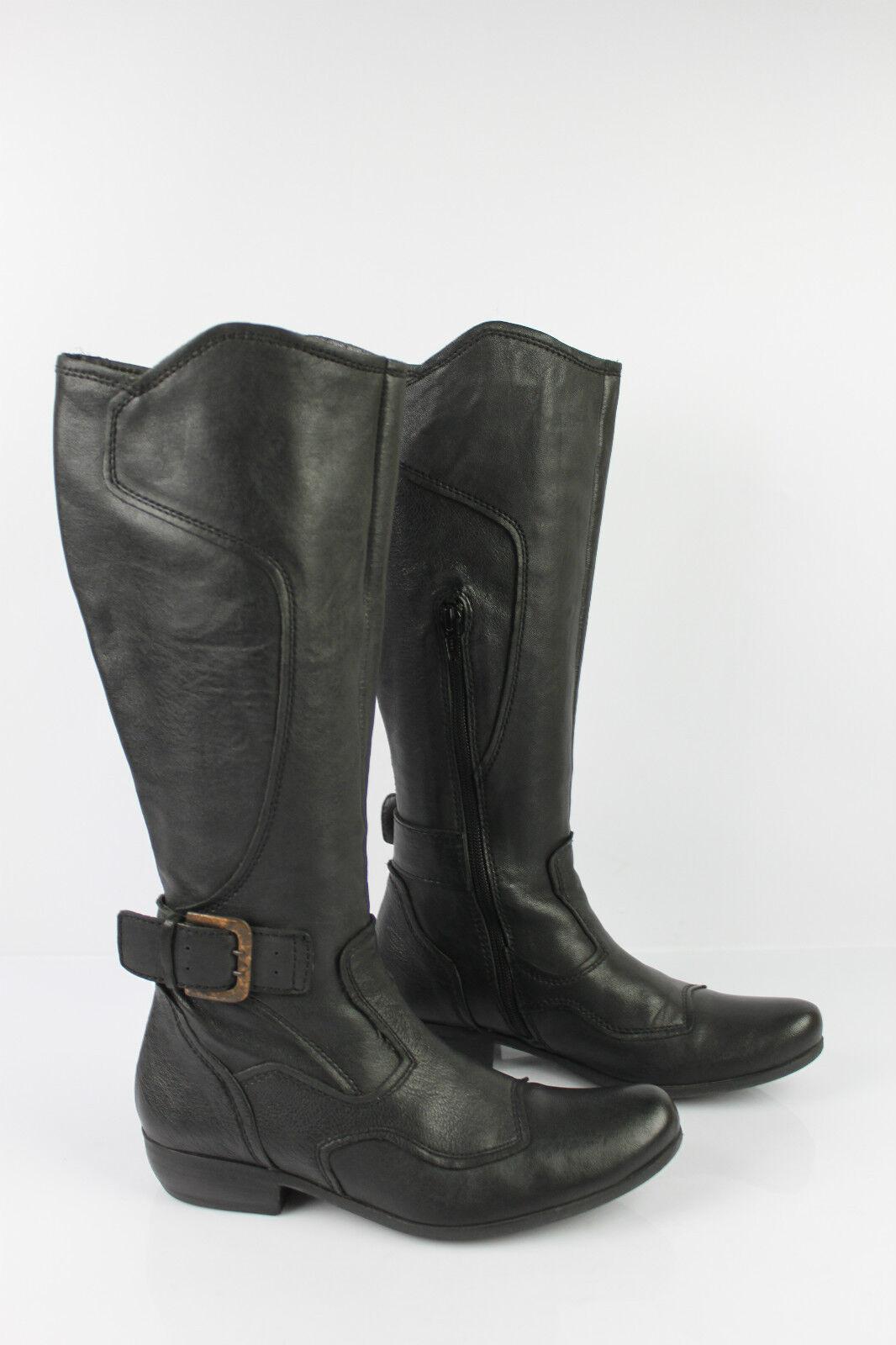 Stiefel ROBERTO DURVILLE schwarzes Leder t 36 seht guter Zustand