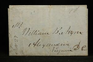 New-York-Clifton-Park-1847-Stampless-Cover-Ms-at-Left-Saratoga-Co