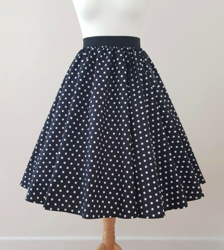Pea Spot Jive Swing Rockabilly 1950s Circle Skirt Classic Polka Dot All Sizes